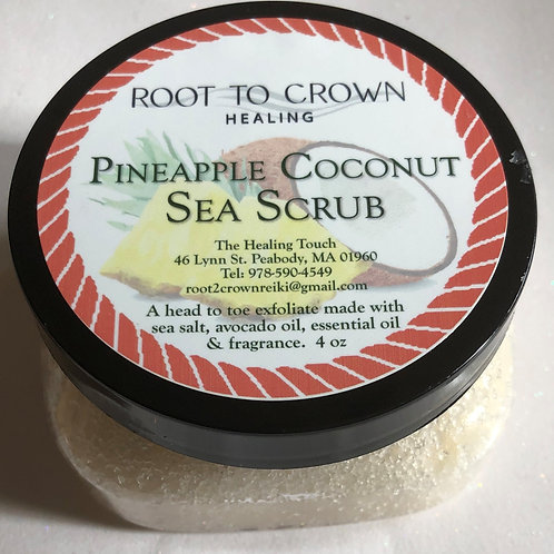 Root to Crown Healing Pineapple Coconut Sea Scrub