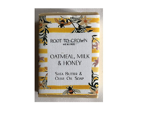 Root to Crown Healing Oatmeal Milk & Honey Shea Butter Olive Oil Bar of Soap
