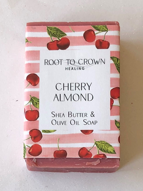 Root to Crown Healing Cherry Almond with Shea Butter Olive Oil Bar of Soap