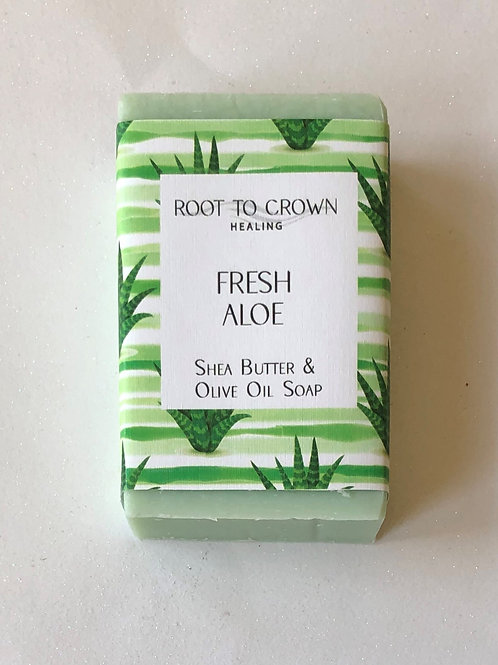 Root to Crown Fresh Healing Aloe with Shea Butter & Olive Oil Bar of Soap