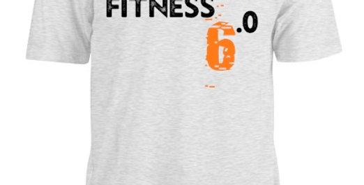 'Big 6' Heather White Athletic Tee