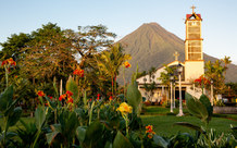 Church and Volcano