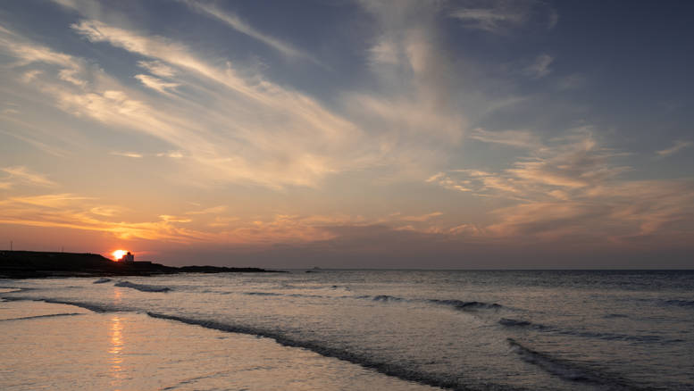 Bamburgh Beach Sunset (Ref: 1398)