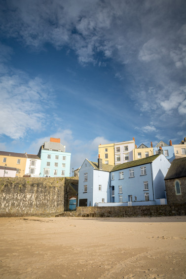 Colourful Tenby Houses