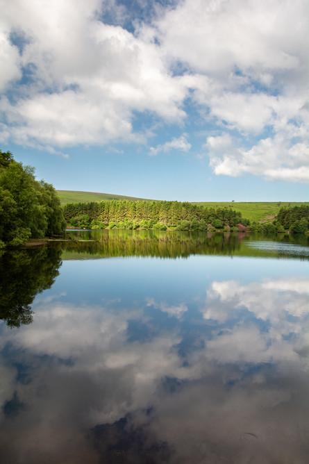 Venford Cloud Reflections - Portrait