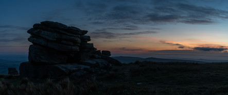 Little Mis Tor Panorama at Blue Hour
