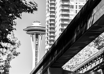 Seattle Mono Rail and Space Needle