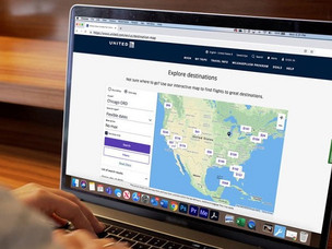 PaxEx: United Launches Online 'Map Search' Feature
