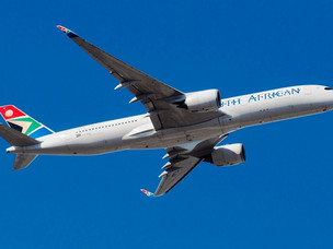 South African Airways New A350 Operates First International Flight