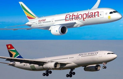 ETHIOPIAN AIRLINES E SOUTH AFRICAN AIRWAYS RINNOVANO L'ACCORDO DI CODESHARE