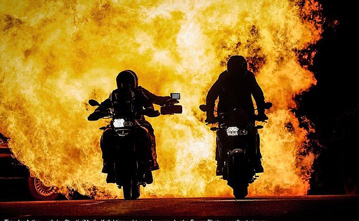 Englebert Straus Motorcycle Fire
