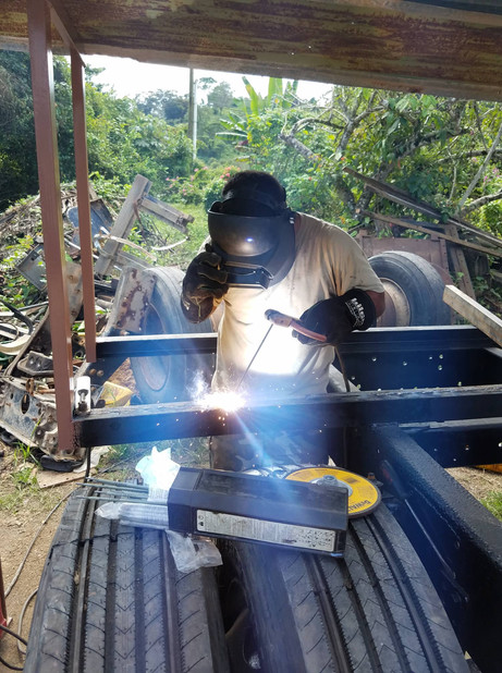 Jesse Awe Welding the support