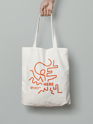 We Are Here Canvas Tote Bag