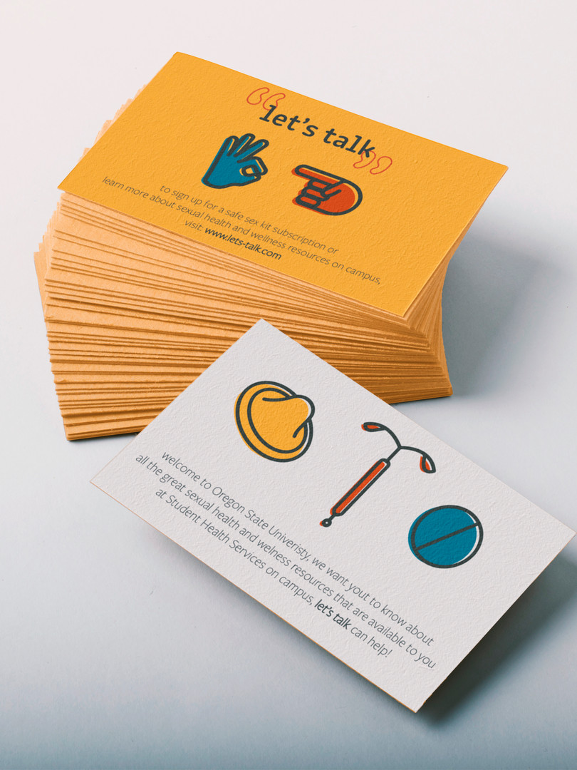 Let's Talk Promotional Card