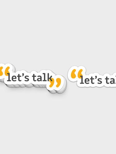 Let's Talk Sticker Subscription Box Item