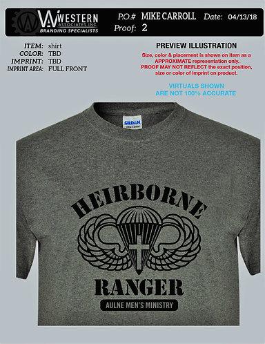 Men's Ministry T-Shirt, Heirborne Ranger