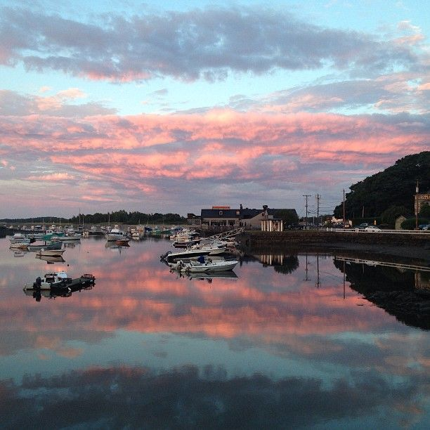 Cohasset Harbor at sunset