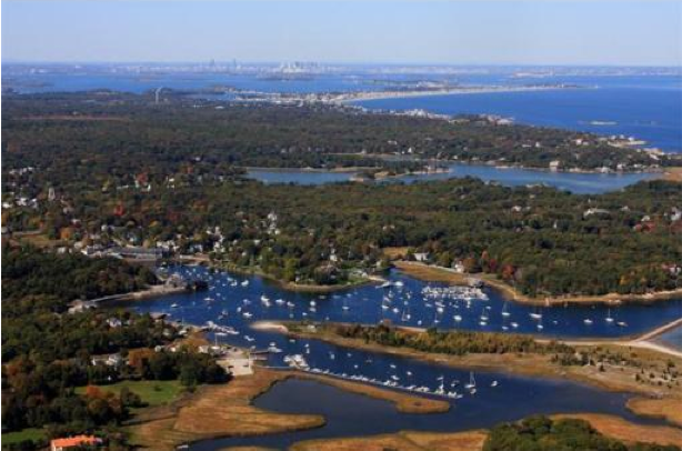 Aerial view of Cohasset Harbor