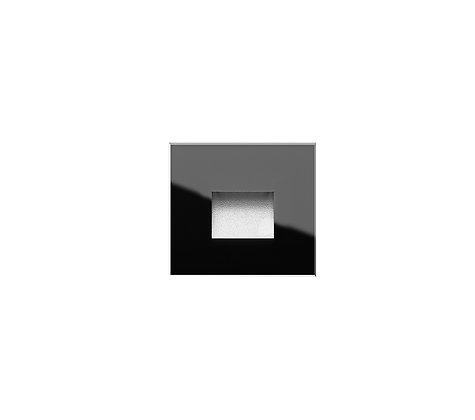 אגם שקוע קיר מרובע זכוכית שחור