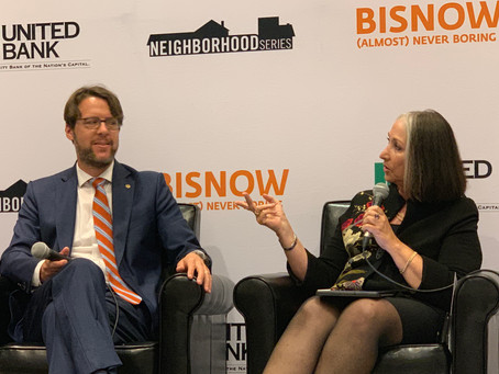 Ellen Coren chats with Councilmember Hans Riemer about the future of Montgomery County