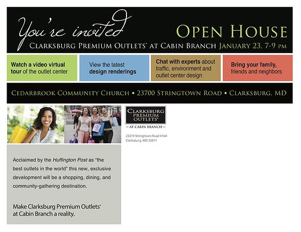Clarksburg Open House Jan. 23 mailer #3.