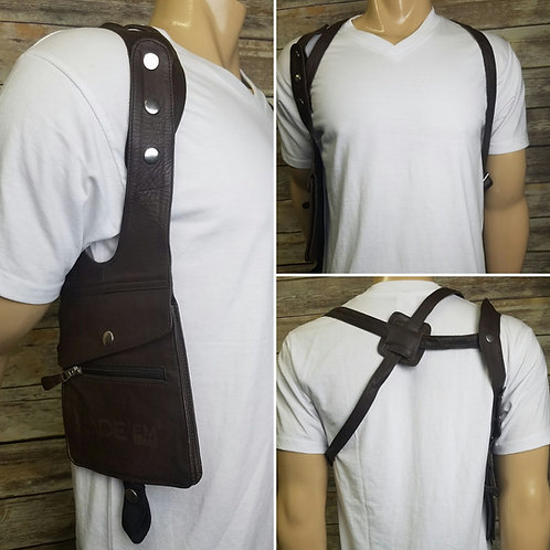 RIDE Brown Leather Pouch