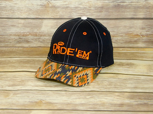 Navy Blue Ride'em Wear Tribal Velcro Cap