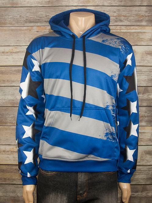 Blue Sportswear Flag Hoodie