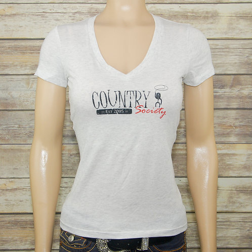 Country Society V-Neck Tee