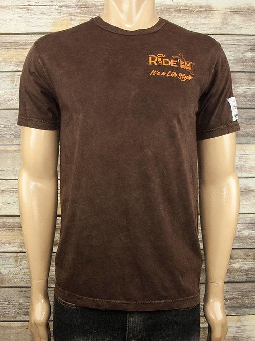 Ride'em Brown Mineral Shirt