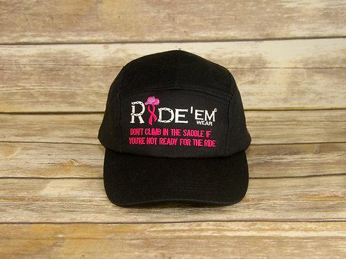 Breast Cancer Ride'em Motto Cap