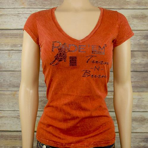 Turn~N~Burn Mineral Wash V-Neck T-Shirt