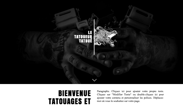 Arts visuels website templates – Tatoueur