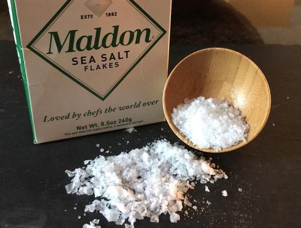 maldon salt, large flakes,
