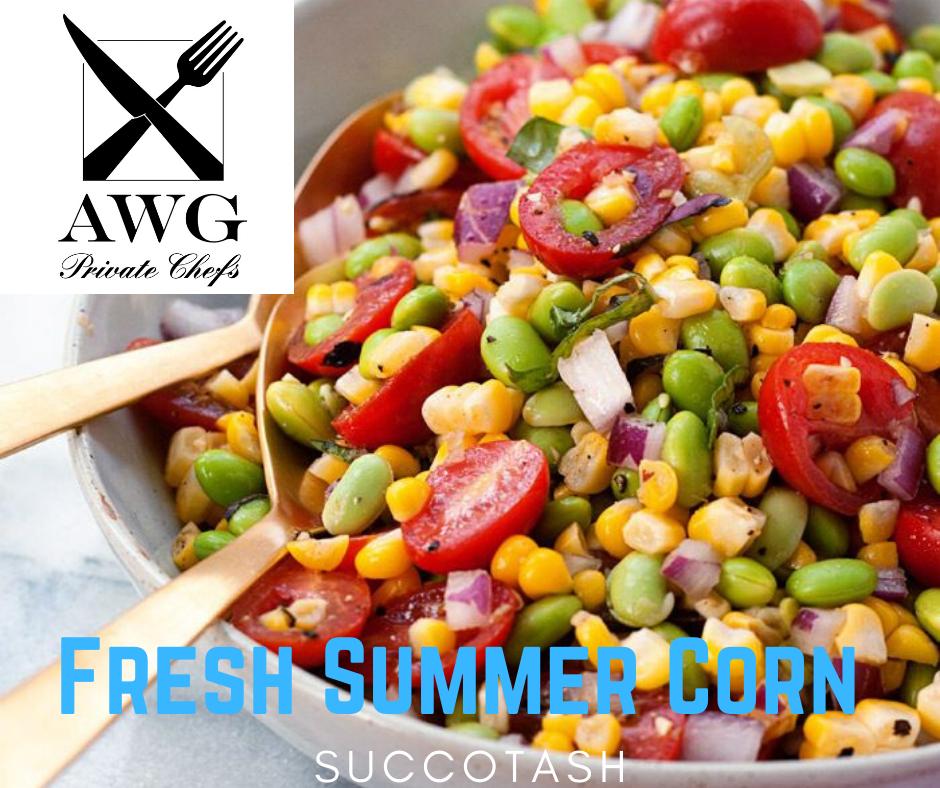 organic summer corn, fresh edamame,