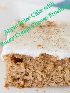 Apple Spice Cake Recipe with Boozy Cream Cheese Frosting