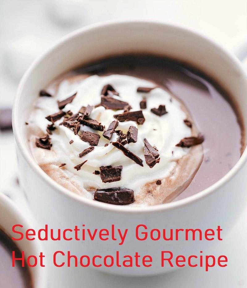 hot chocolate, shaved chocolate, whipped cream,