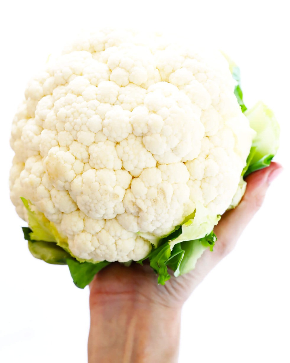 A basic head of raw cauliflower