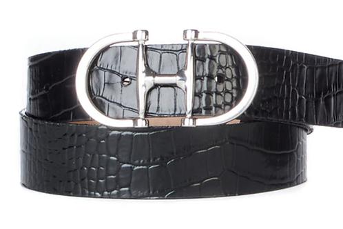 Croc Embossed Belt