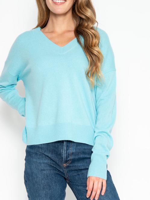Teal V Sweater (430GD806)