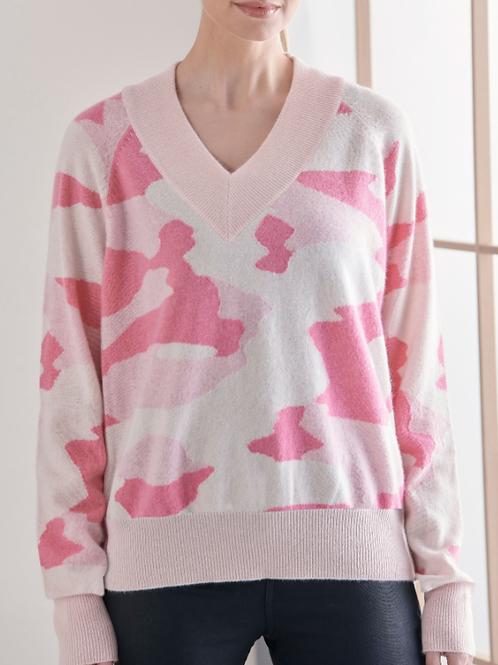 Pink V Camo Sweater (20A14191288)