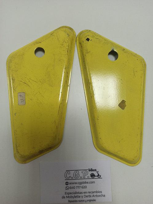 Tapas caja de herramientas mobylette amarillas
