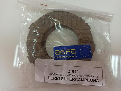 Discos de embrague derbi supercampeona