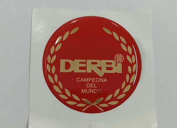Emblema derbi rojo en resina