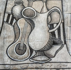 Still Life with Guitar and Vessels