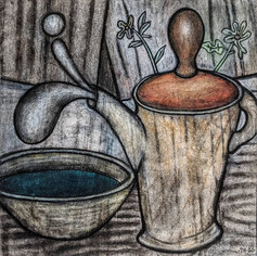 Bowl and Teapot