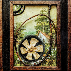 Kitsch Painting with Lime Peeling Cutaway