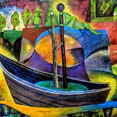 Illuminated Boat Still Life
