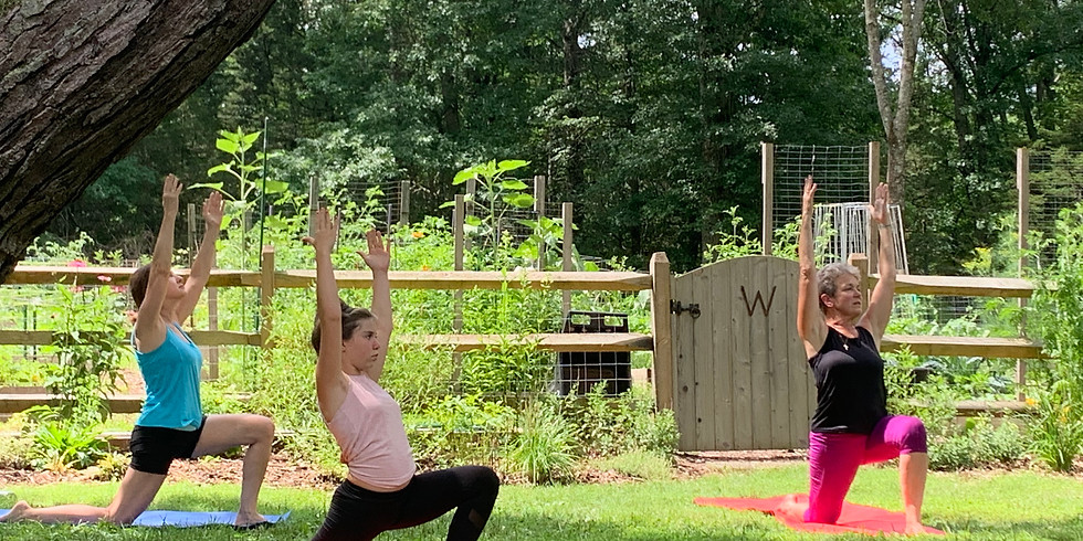 Monday YOGA in the Gardens of Whittemore