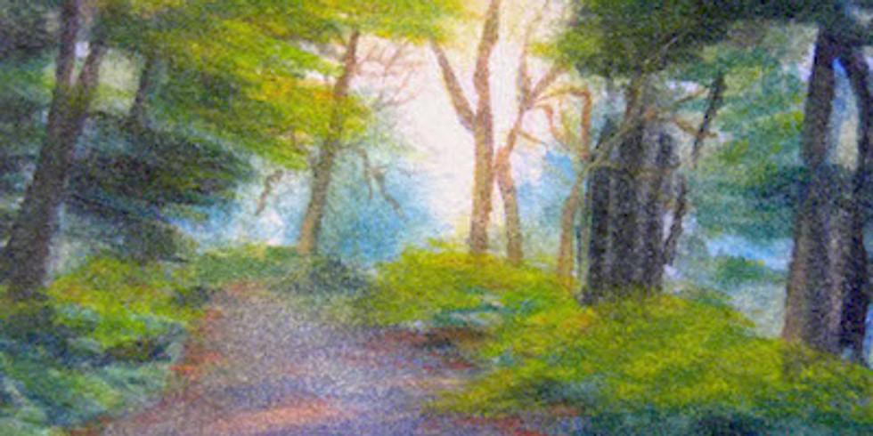 """""""Exploring the Wheat Fields"""" in Watercolor En-Plein-Air in July"""